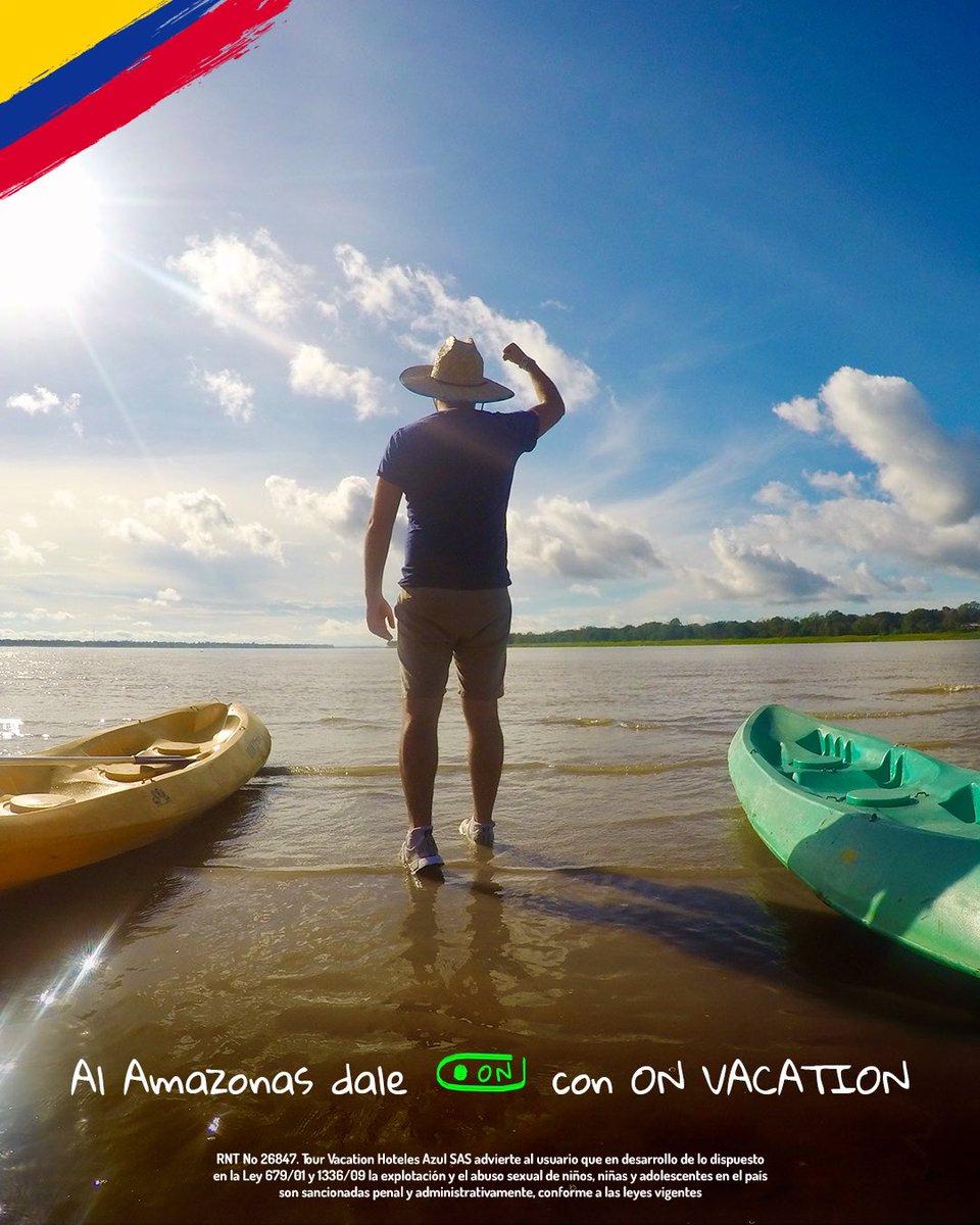 🟢 #DaleON al Amazonas! 🟢  Qué esperas para practicar kayak en el #RioAmazonas. Reserva ya y viaja desde octubre de 2020.🇨🇴   Paga a cuotas sin intereses en https://t.co/ni4qz4lDS1 💻, llama gratis desde tu celular al #336📲 o consulta con tu asesor de confianza. 🙋🏻♂ https://t.co/A1PrT0tBHz