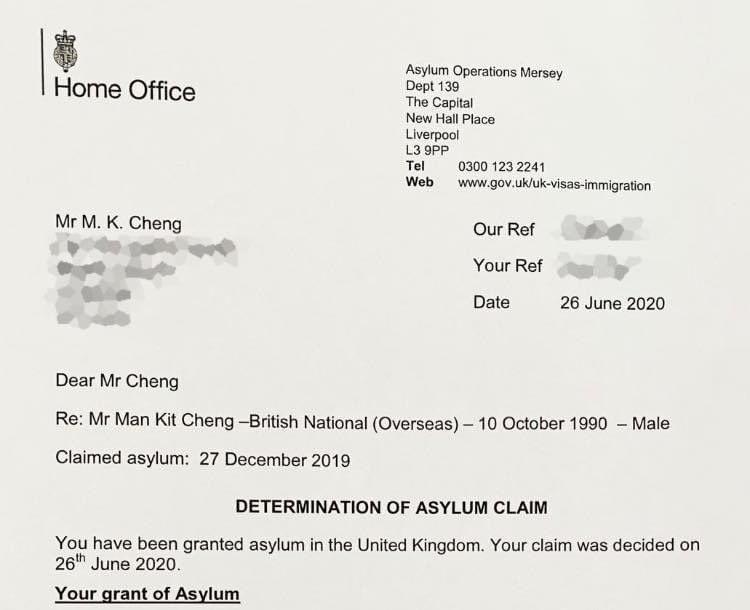 #BREAKING: Former UK consular worker Simon Cheng @SimonCh15198572 has been granted asylum in the UK, the 1st known case since the #antiELAB movement started last year. He claimed he had been tortured in Chinese custody. #HongKongProtests https://t.co/UDHLXB3wld