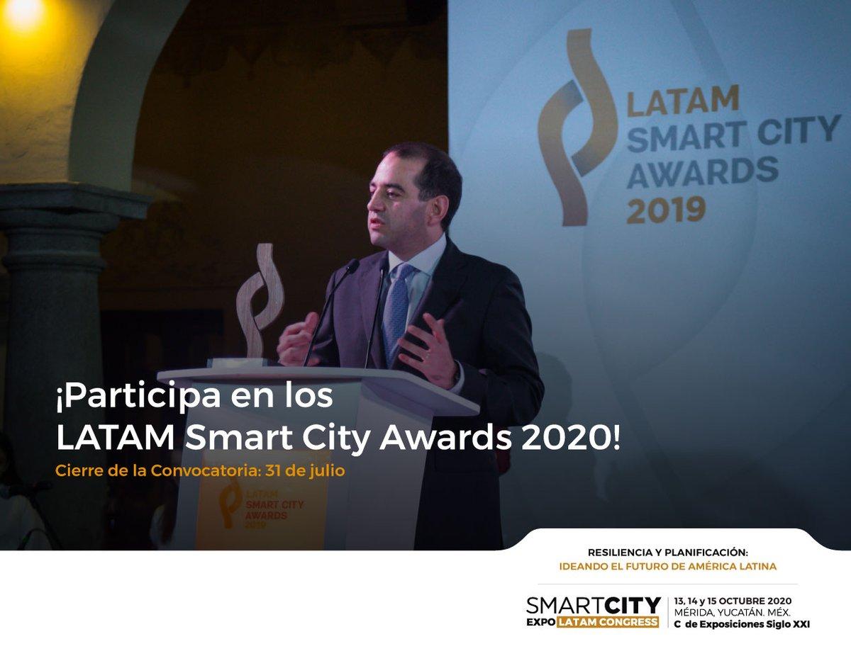 Las prácticas ejemplares que transformarán la realidad de América Latina y el Caribe, tienen un lugar en la convocatoria de los LATAM Smart City Awards. ¡Consulta las bases y participa! 🗓️ 🏆 https://t.co/aSSBLPdr6D https://t.co/vO6UWeMQa3