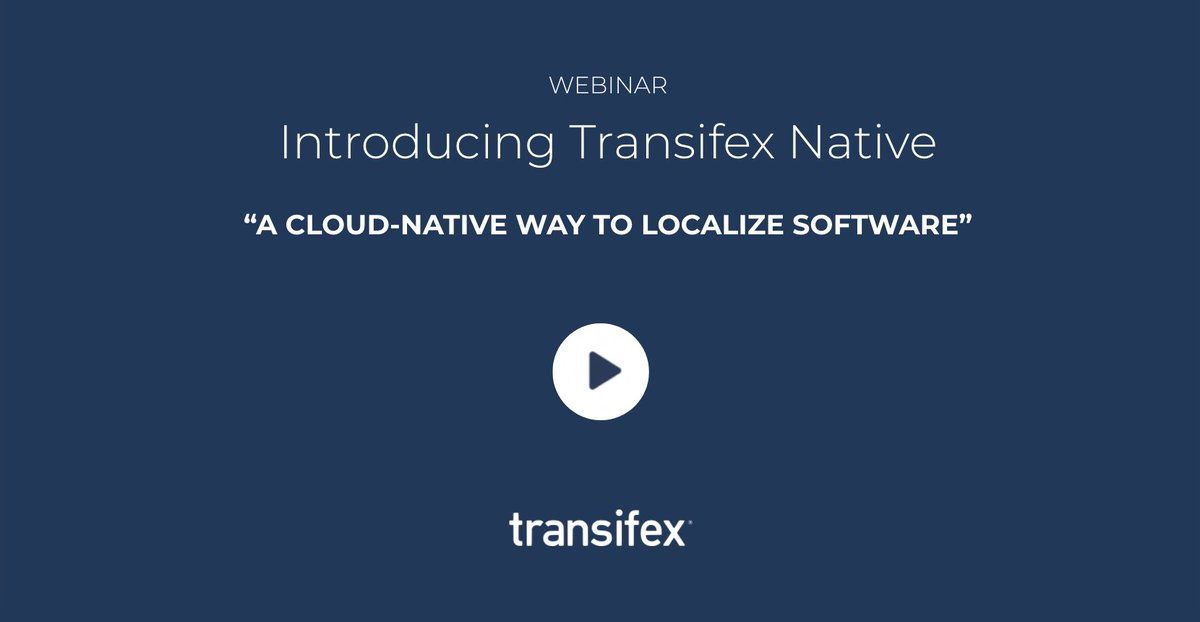Thanks to all who joined our #TransifexNative webinar yesterday!  In case you missed it, check out the recording to learn about how this cloud-based #l10n stack is redefining #product localization & making it a seamless part of the #development lifecycle:  https://www. transifex.com/resources/intr oducting-transifex-native   … .<br>http://pic.twitter.com/yRuOLhdIKq