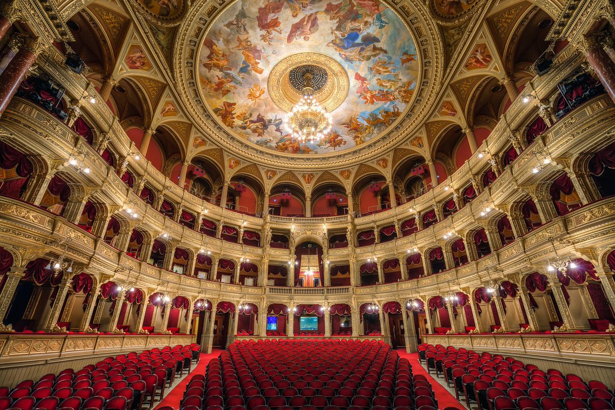 The Hungarian State Opera House, Budapest.