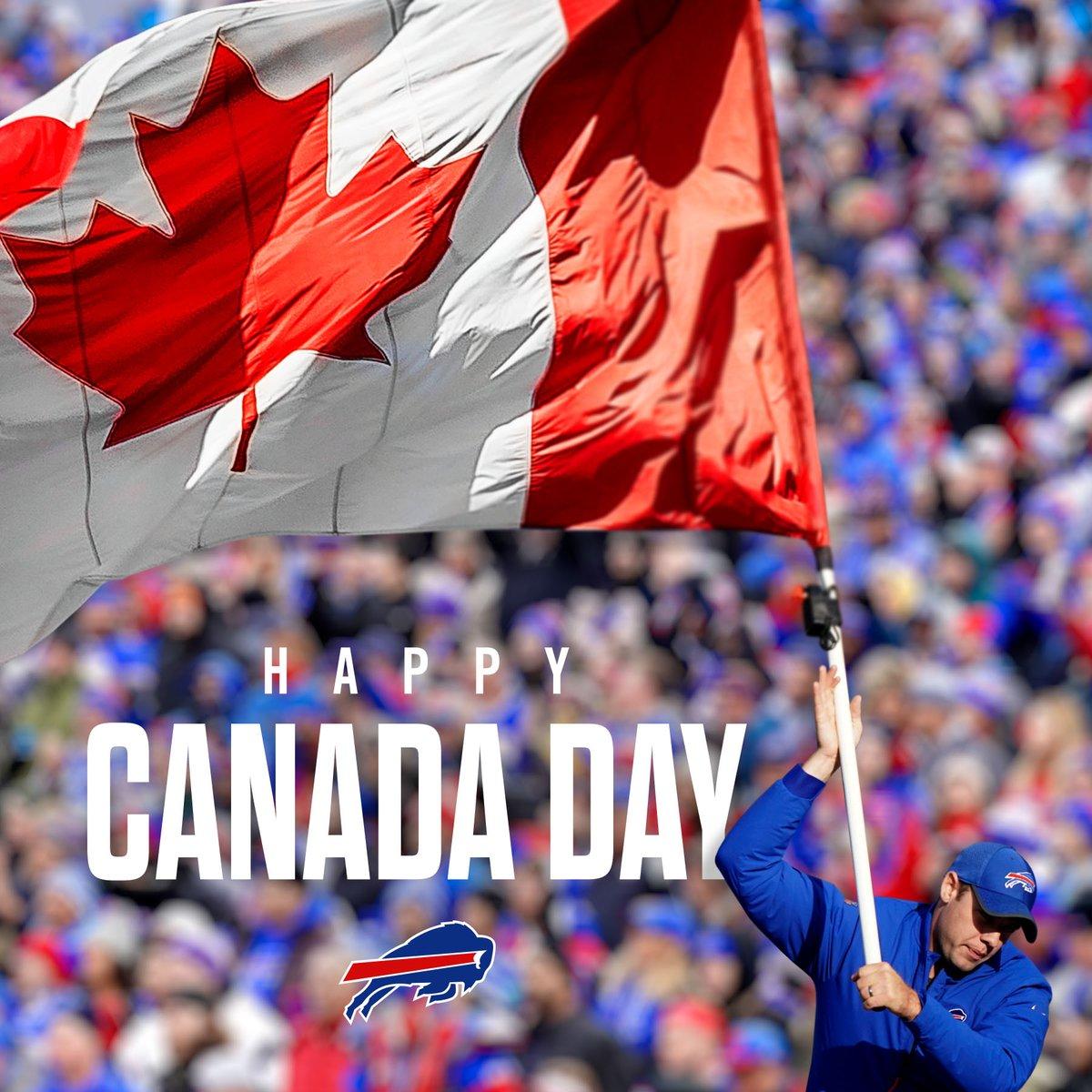 Happy #CanadaDay to our neighbours up North! 🇨🇦  #GoBills | #BillsMafia https://t.co/Bveb3oL5yv