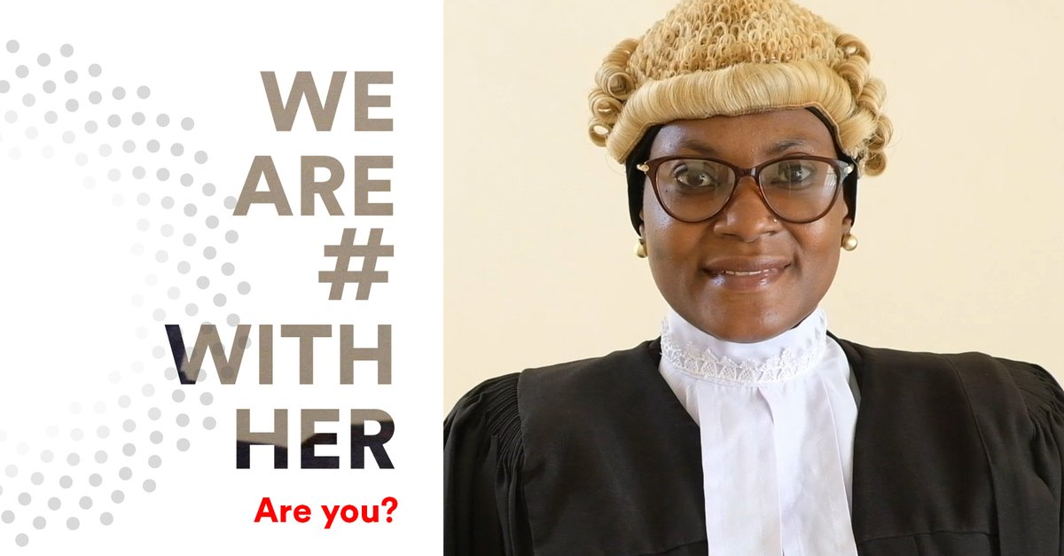 Meet Rashidat Mohammed, a lawyer who fiercely prosecutes rapists and paedophiles in Nigeria. Her job isn't easy, but it's the one she has chosen. We are #WithHer, are you? 📽️: @GlobalSpotlight