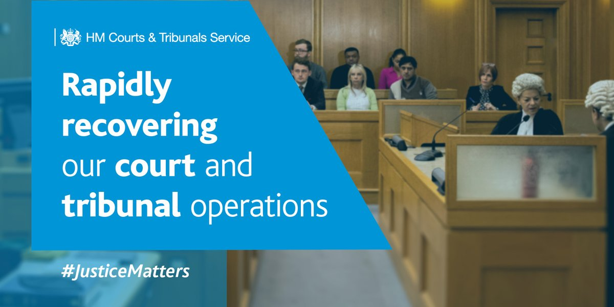 We continue to #StayAlert & follow guidelines on social distancing & other restrictions, but we're now working on rapidly recovering courts & tribunals operations, aiming to get back to pre #coronavirus levels in all jurisdictions @MoJGovUK @JudiciaryUK https://t.co/oYrLar8idy https://t.co/gHi5sBCSzC