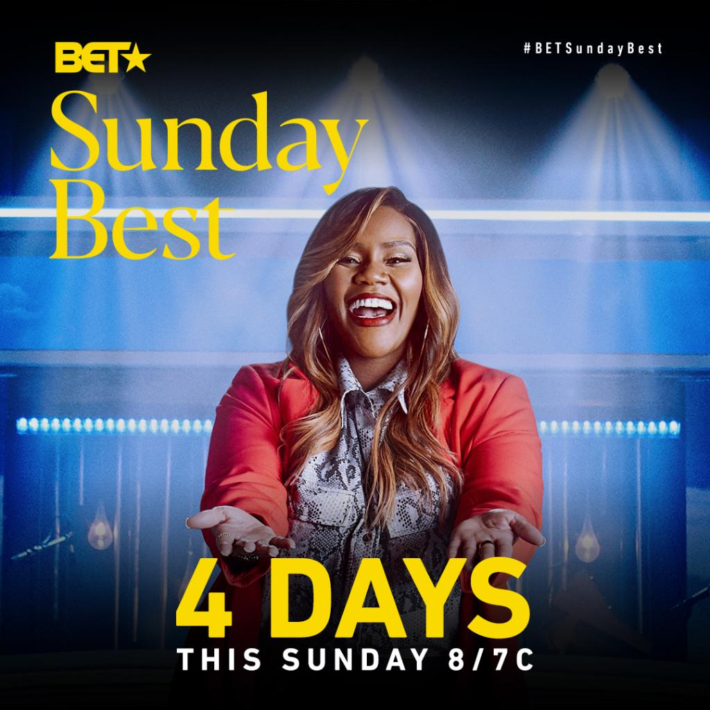 We're 4 DAYS away from the Season 10 premiere of @BETSundayBest!  Reply with a 🎤 if you're ready for #BETSundayBest to return! https://t.co/y9shEuO3hu