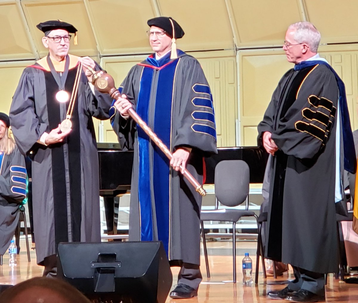 We are celebrating @NWU_President Dr. Darrin Good, who joined NWU one year ago today! This photo was taken at his Inauguration last October. #PWolfNation #YipYip https://t.co/A842RYzs5V