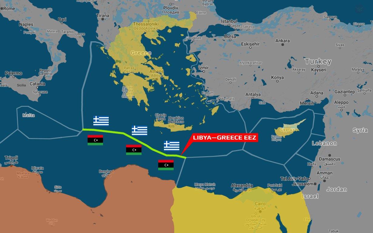 «Греко-ливийская» карта разграничения вод Средиземноморья