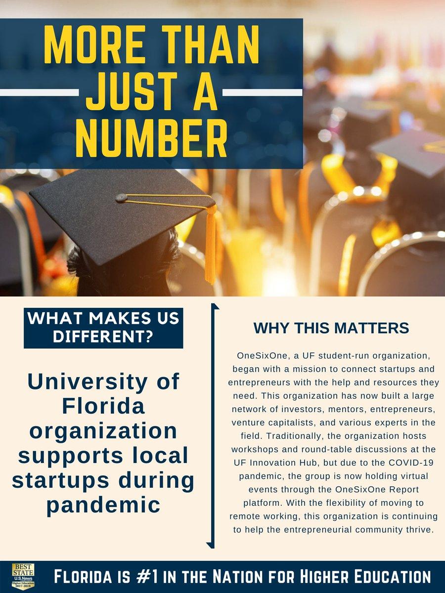 #MoreThanJustANumber @UF organization supports local startups during pandemic