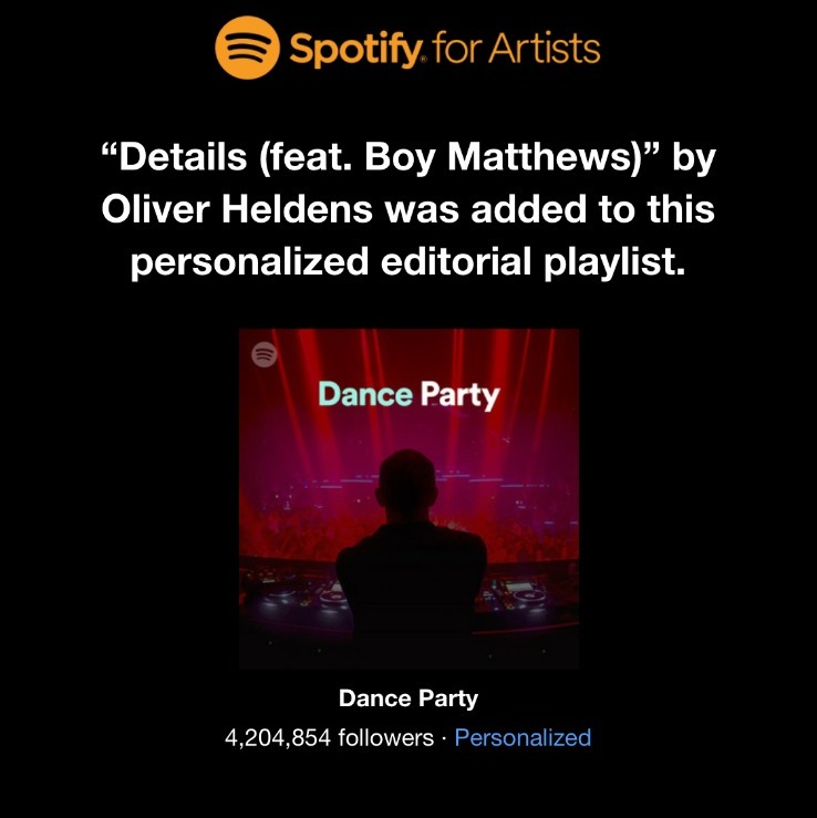 Niceee! Thanks you @Spotify @AustinKramer for adding 'Details' to Dance Party! 🕺🏻😎🙌🌈 https://t.co/FaVxaXR5Cm https://t.co/8nkuIXknjF