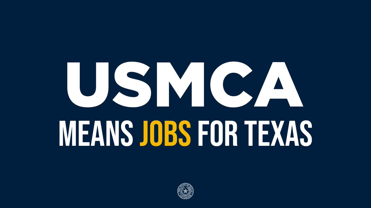 #USMCA is now in effect! This monumental trade agreement is a win for the Lone Star State and America.