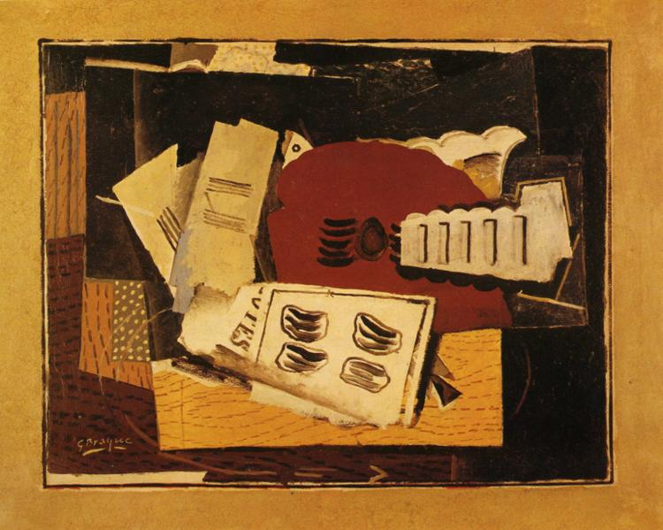 Guitar and Sheet Music, 1919 #braque #syntheticcubism <br>http://pic.twitter.com/DVEWVs2hk1
