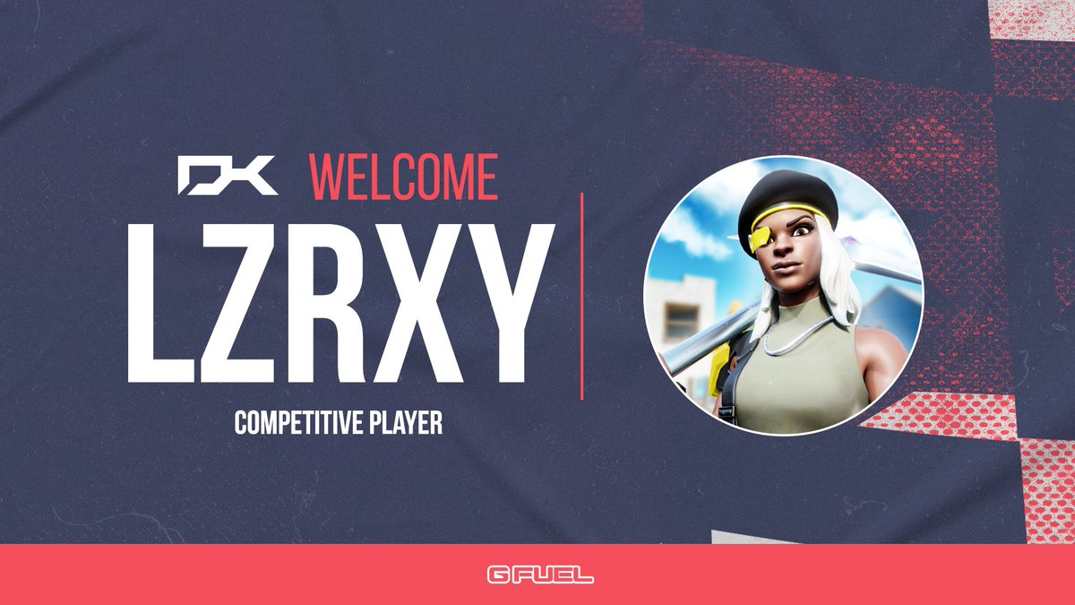 SURPRISE RECRUIT🚨  We're happy to announce @lzrxyy will be joining the Fortnite competitive team.  @lzrxyy's placements speak for themselves and we're excited to see these improve even more now on the team!  Welcome @lzrxyy!😅  #DKNation #DKFam https://t.co/g1zd7ujau5