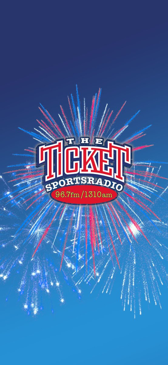 Boom! The Ticket is firing off Rotten Radio all day Friday July 3rd 6a-7pm. Celebrate America's Birthday with the Ticket and this wallpaper for your phone on #WallpaperWednesday and Rotten Radio Friday! https://t.co/dtC4ALCyI8