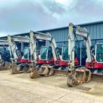Image for the Tweet beginning: Four Takeuchi diggers sold and