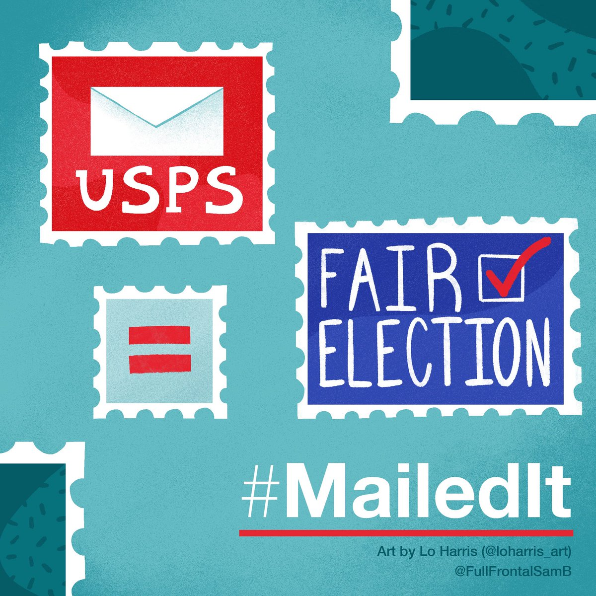 Hey @stevenmnuchin1, do the right thing and help us save the US Postal Service. We need mail-in ballots! #MailedIt @FullFrontalSamB