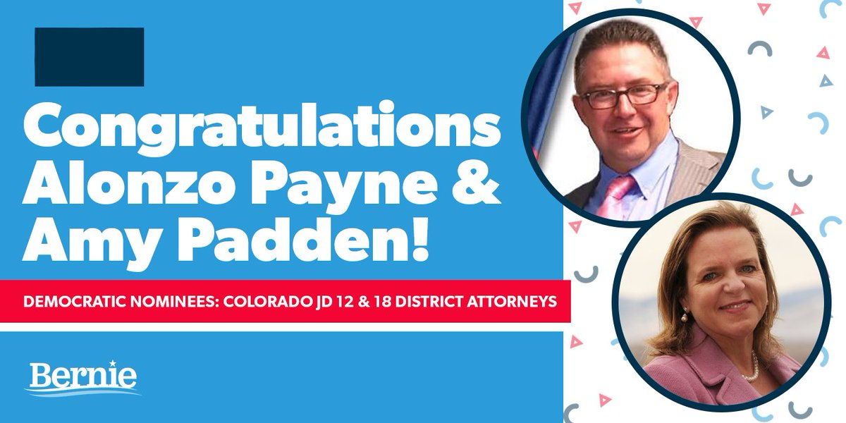Congratulations to Colorado district attorney candidates @alonzopayneCO and @ap4ag for winning their primaries last night. Together, we can fundamentally reform our broken criminal justice system by electing progressives at every level.