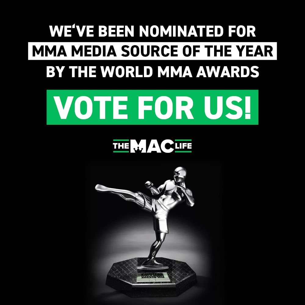 TheMacLife is honoured to have been nominated for this years @FightersOnly MMA Media Source of the Year Award - something that wouldn't be possible without your support 👊🙏 If you would like to vote for us, visit: https://t.co/S6FktpXgeB 💪Thank you - TheMacLife https://t.co/fMHF9oe84P