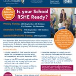 Image for the Tweet beginning: FREE DfE RSHE training and
