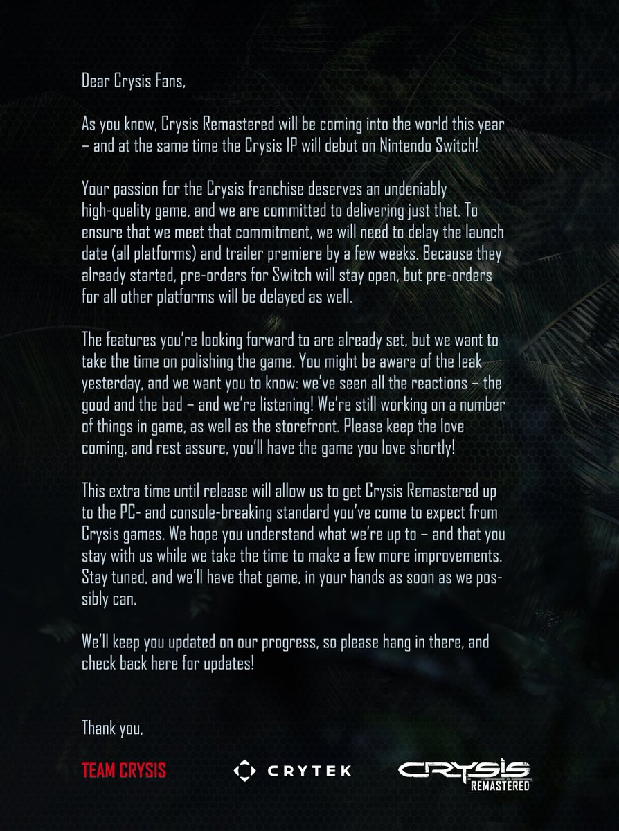 We would like to share an important update with you all! https://t.co/ylu0OisDf3
