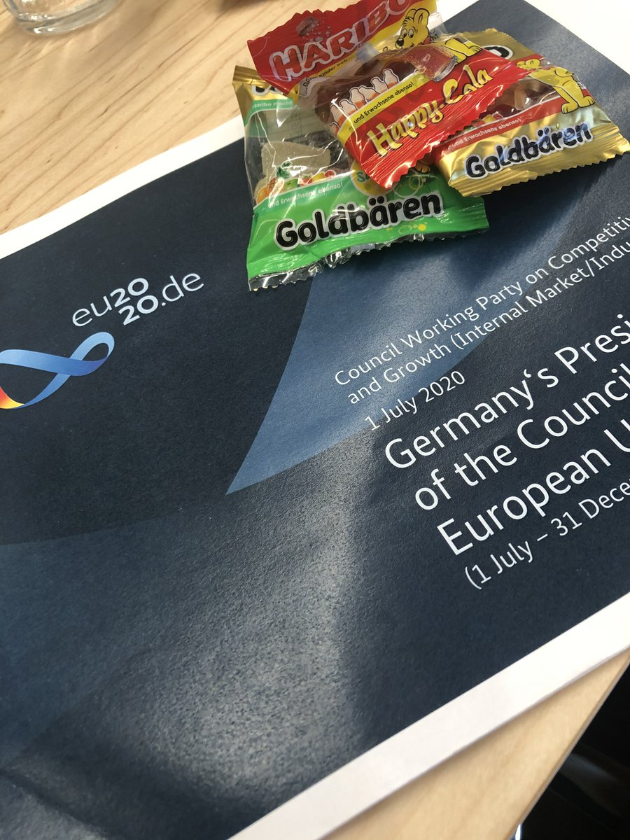 Pleased with day 1 of the German Presidency: combining #Haribo candy with talks on how to restore and improve our #SingleMarket. @EU2020DE #COMPET @NLatEU