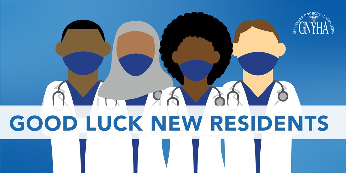 Congratulations and good luck to all the new medical residents starting their careers today! Thanks for sharing @GNYHA