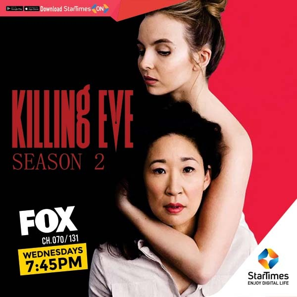 "Eve is reeling from her act of violence against Villanelle and doesn't know whether she is alive or dead. Catch the fresh episodes of ""Killing Eve"" Wednesdays at 7:45pm on @FOXAfrica #FoxAfrica  #SeriesOnStarTimes https://t.co/6eAi4hpF2l"