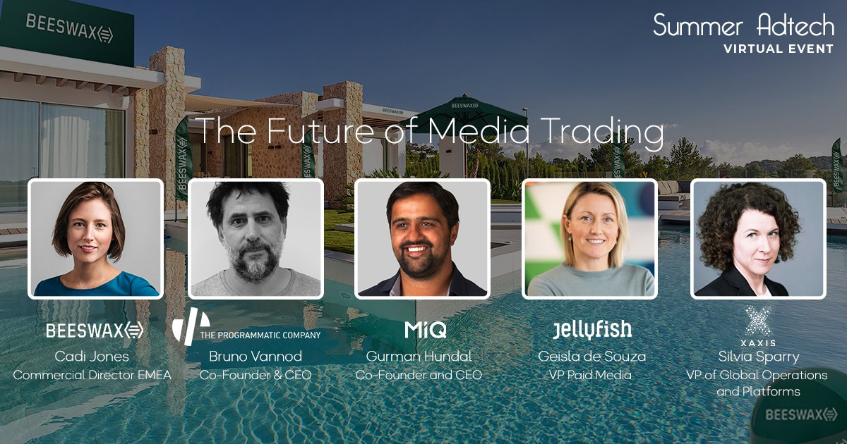 """Register and join for the last panel of the event: """"The Future of Media Trading"""" at the Villa Beeswax with The Programmatic Company, MiQ, Jellyfish, and Xaxis at 6:00PM! ➡️ https://t.co/j3ygjrSD7j https://t.co/ShvWyAtLT8"""