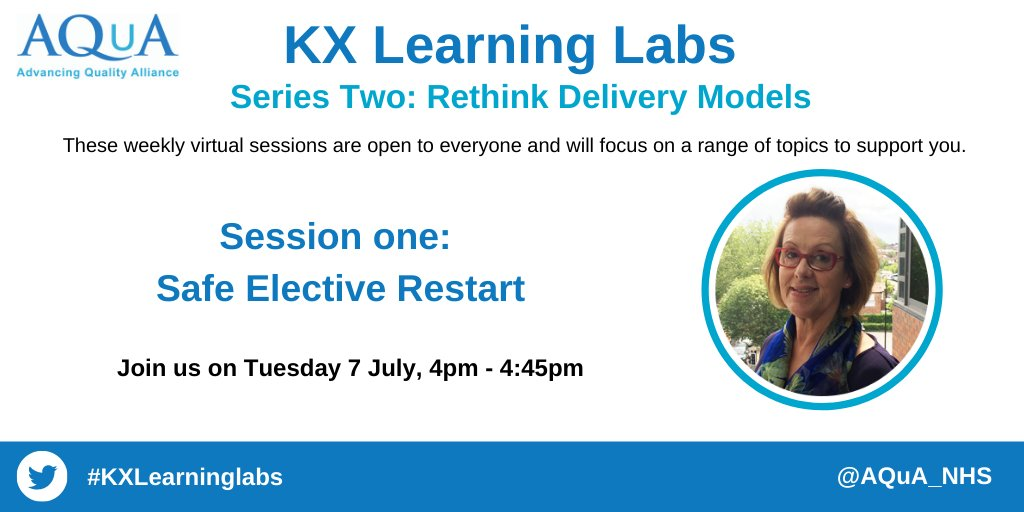 💻WEBINAR: Join us for our next #webinar in our weekly series of #KXLearningLabs. Join @RawlinsonTracey as we hear about some of the challenges and opportunities around elective restart. 🗓️Tuesday, 7 July ⏰4pm - 4:45pm Register here 🔗eventbrite.co.uk/e/kx-learning-…