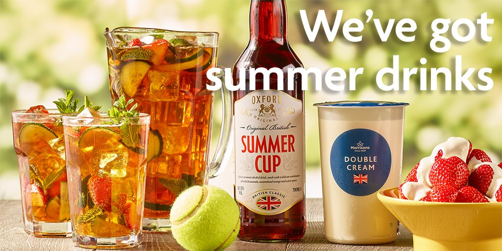 Bringing the tennis to your back garden...all that's missing is centre court. Pick up a bottle of our new Summer Cup and create your own fruity cocktail, just £4.99*. Just mix with lemonade and fresh cut fruit.  *Price differs in Scotland and Wales due to minimum unit pricing. https://t.co/iei2ZYG6bw