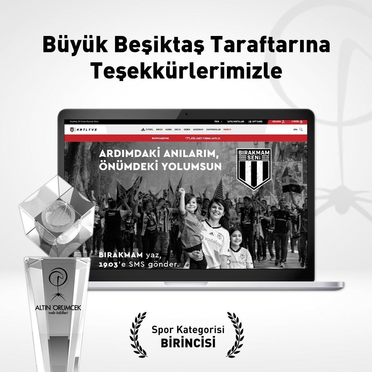 https://t.co/107aYy9vGg web sitemiz, 18. Altın Örümcek Ödülleri Spor kategorisinde birincilik ödülünü kazandı. Büyük Beşiktaş taraftarına teşekkürlerimizle 🦅🏆 https://t.co/X17qNo4LbF