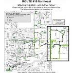 Image for the Tweet beginning: Route Update: Route 16 will