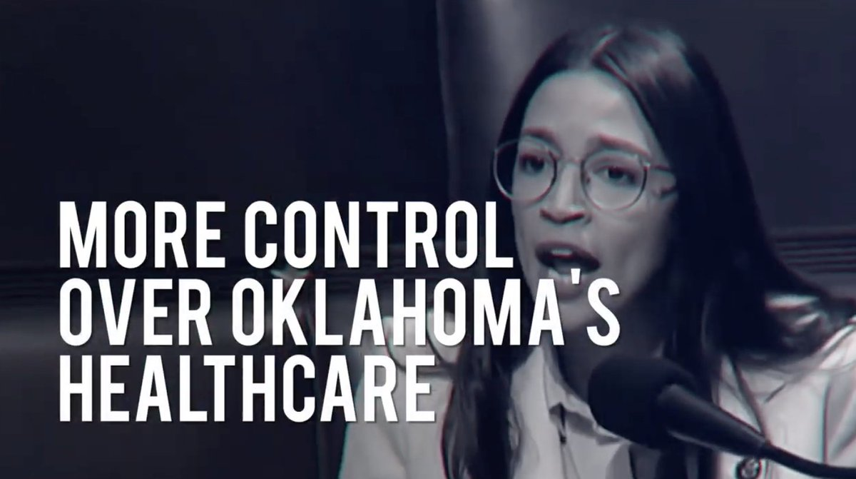 "Some of the advertising against Oklahoma's Medicaid expansion measure centered @AOC, warning that ""radicals like"" her would get ""more control over Oklahoma's health care.""  The measure passed, which I believe makes AOC the biggest health insurer in Oklahoma. https://t.co/xLG3tbgMGY"