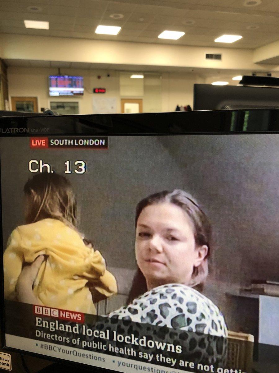 Multi-tasking on live tv #bbcnews