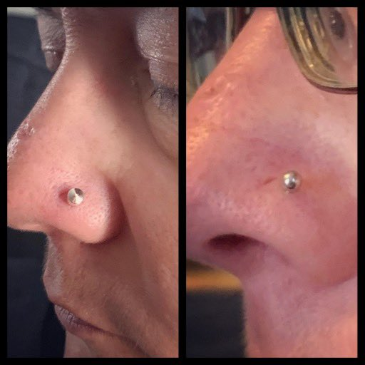 𝐍𝗼𝐬𝐞 𝐏𝐢𝐞𝐫𝐜𝐢𝐧𝐠 ♥︎; 𝐂𝐥𝐢𝐞𝐧𝐭 𝐥𝗼𝐯𝐞𝐬 𝐢𝐭 & 𝐜𝐚𝗺𝐞 𝗼𝐮𝐭 𝐥𝗼𝐯𝐞𝐥𝐲  . . #piercer #girlswithpiercings #nosepiercing #nosepierced #piercing #majesticemerald #piercedchicks #piercedmom #piercedgirlsofinstagrampic.twitter.com/BFKI9iOKgK