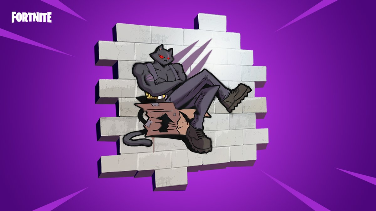 Congrats to @gunheaded on winning our #FortniteSprayContest. Their Meowcles tribute is prr-fection! Be on the lookout for how to get this spray at a later date. twitter.com/FortniteGame/s…