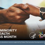 Image for the Tweet beginning: July is National Minority Mental