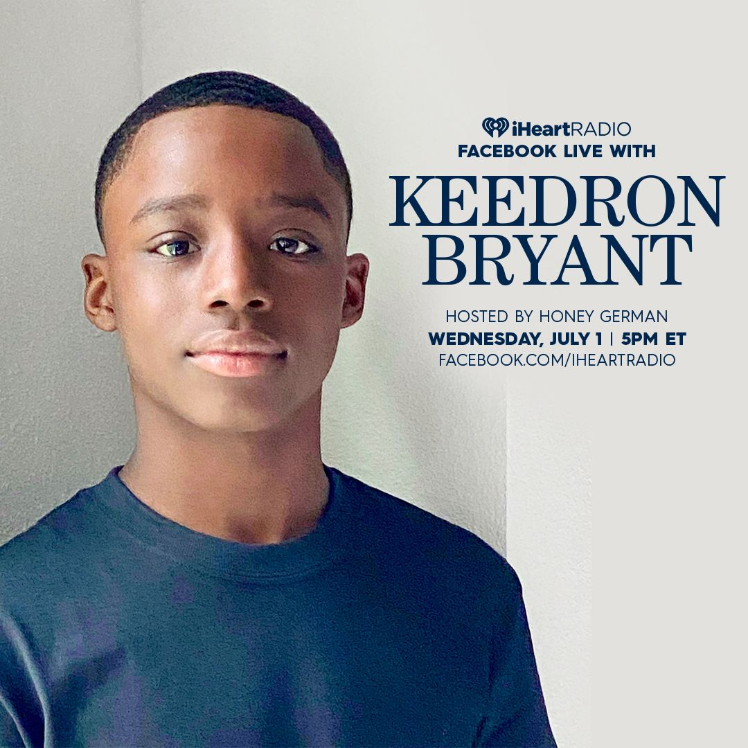 Today the Young King @keedronbryant will be doing a Q&A and live performance 🙌🏾❤️🎙 - 5PM hosted by @HoneyGerman on @iHeartRadio's Facebook page. Make sure to tune in: https://t.co/jcmhq0XnGP https://t.co/PSjdulUBrn
