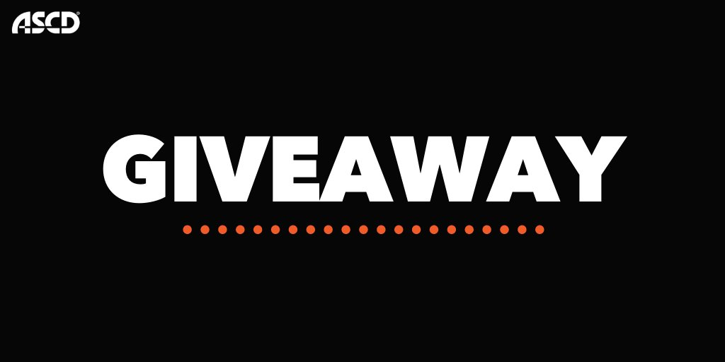 Want to win a giveaway? We will be announcing how to enter our #ASCDvirtual giveaway TODAY at 3pm ET. Stay tuned and tell a friend. https://t.co/yrvdgd57Ig