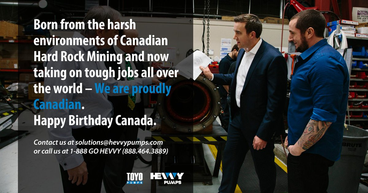 Hevvy/Toyo Pumps is a proud Canadian company and the last true independent, privately wholly owned, slurry pump designer left in the market.   #slurry #pumps #engineeringsolutions #industrialequipment #canadaday #engineeringdesign #Independentbusiness #canadianbusinesspic.twitter.com/SEK1zwkhJW
