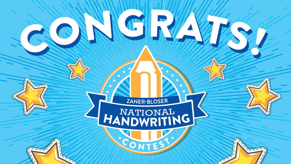 Meet our 2020 Grand National & Semifinalist Handwriting Contest winners! 🎉 ✍️ 🎁   See the complete list here: https://t.co/w9aiLCeT10 https://t.co/trO0Qb7PuE