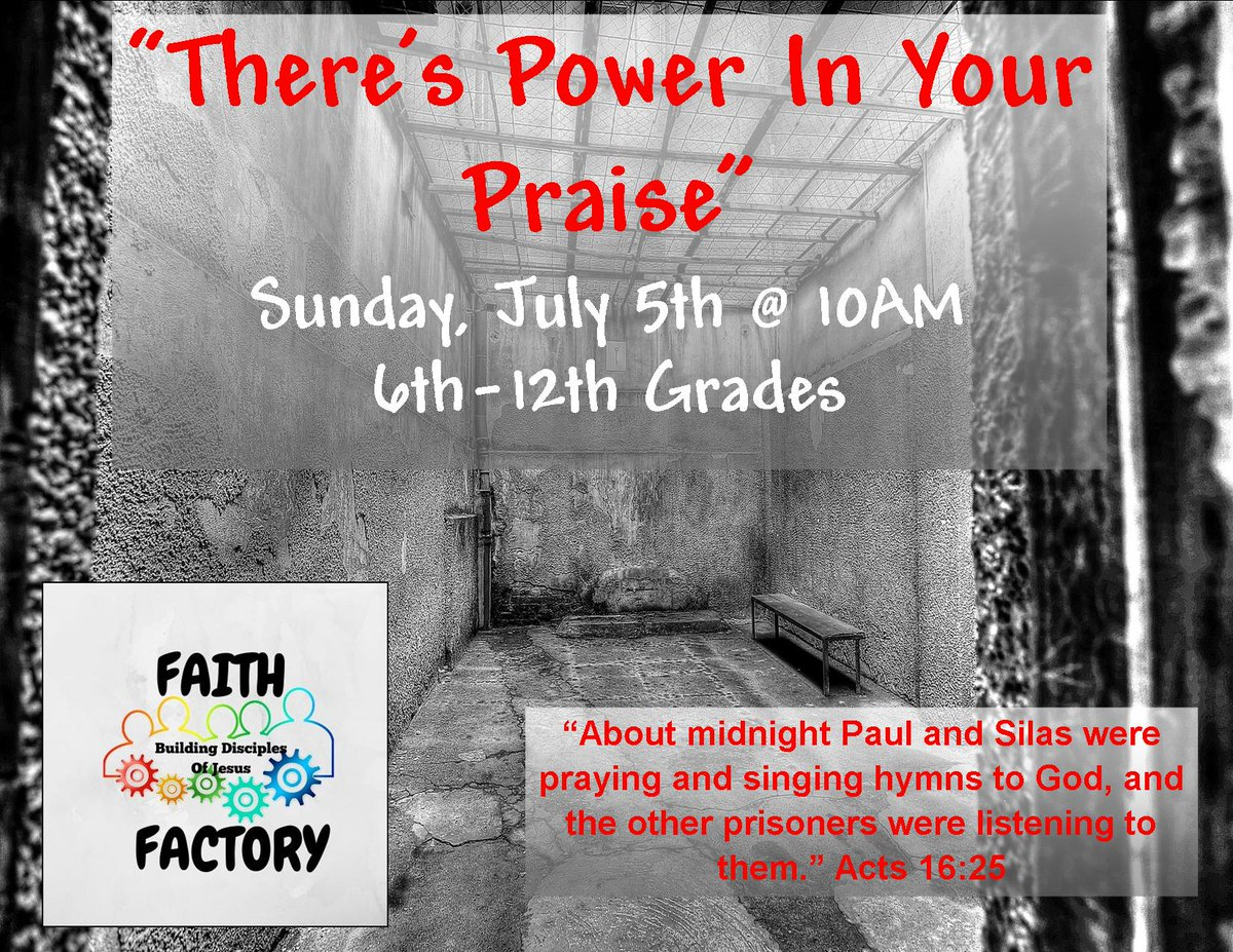 Faith Factory @ 10AM! #abidinglovecommunitychurch #alccyouth #youthministry #teenministry #youthmin #studentmin #studentministry #stumin #alccfaithfactory #faithfactory #powerinpraisepic.twitter.com/y70CzvnPaS