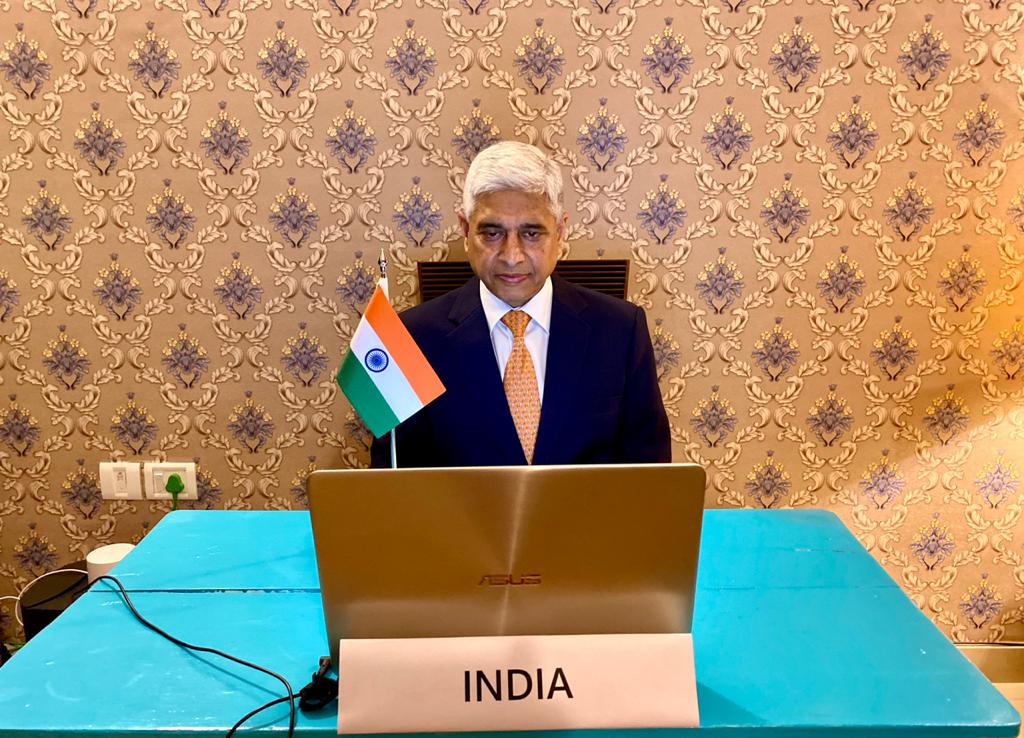 Using digital technology to fight the pandemic.Represented 🇮🇳at the Ministerial Videoconference convened by Foreign Ministers of Estonia & Singapore & spoke of the ways in which India is leveraging technology to limit the spread of #COVID19 & assist vulnerable sections of society