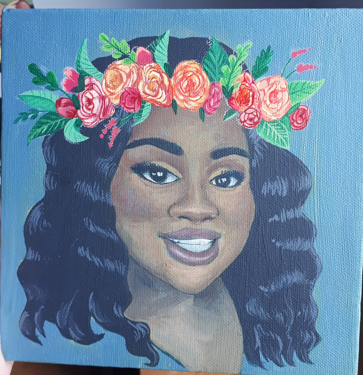 Saw @gracieleeart make a gorgeous picture of Miss Breonna Taylor with a flower crown and wanted to make one too. Finally finished ❤ Happy Birthday sweet girl ❤  #happybirthdaybreonnataylor #blacklivesmatter #flowercrown