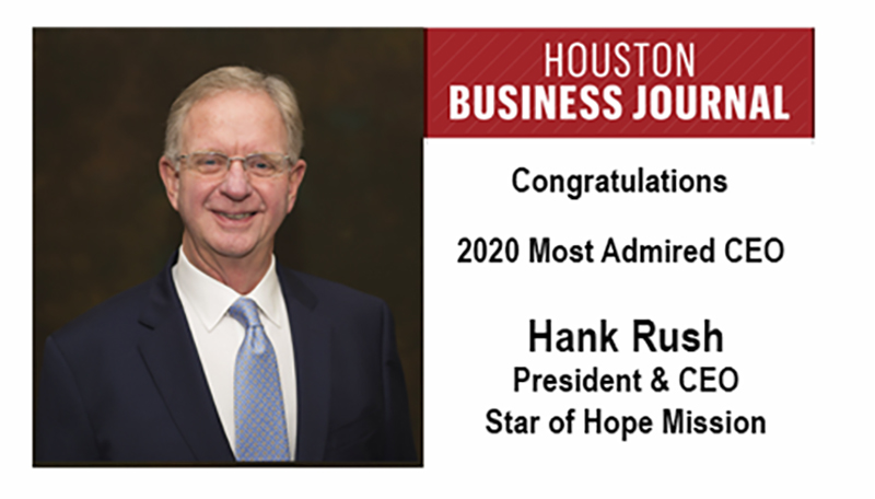 """Congratulations Hank Rush, on being selected as a recipient of the Houston Business Journal's """"Most Admired CEO"""" award. READ MORE: http://ow.ly/jRB450An62f #HoustonBusinessJournal #WednesdayMotivation #HomelessShelter #Houstonpic.twitter.com/rfcDcXG1Mv"""