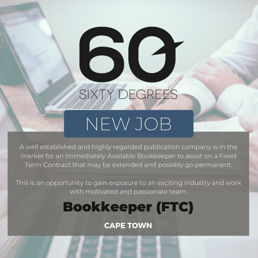 test Twitter Media - New #JobAlert - Bookkeepr (FTC)  A publication company is in the market for an Immediately Available Bookkeeper to assist on a Fixed Term Contract that may be extended and possibly go permanent.  For more information & to apply, please visit our website  https://t.co/eQAmbzukxc https://t.co/64DdjwcG7F
