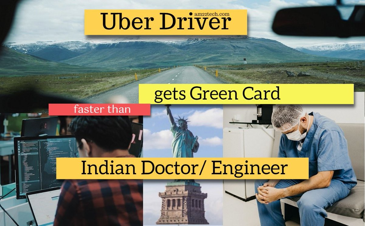 Editorial opinion:    https://www. am22tech.com/uber-driver-ge ts-green-card-faster-than-indian-high-skilled-h1b-doctor/  …   With Twitter poll results for who backlogged #H1B community thinks will help pass #S386 - Joe Biden or Donald Trump or none! #H4EAD <br>http://pic.twitter.com/hVBhGxLd8d