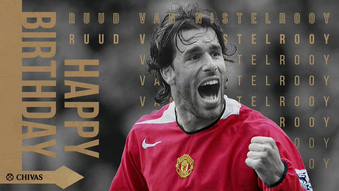 Happy birthday Ruud Van Nistelrooy. The reason am a red for 19years now.