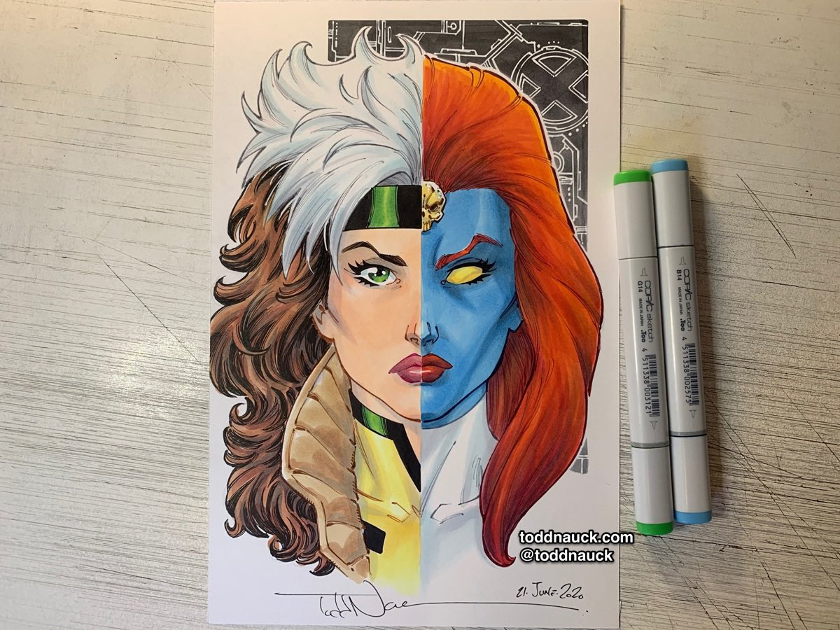 Rogue/Mystique. A recent commission. #xmen #rogue #mystique #marvel
