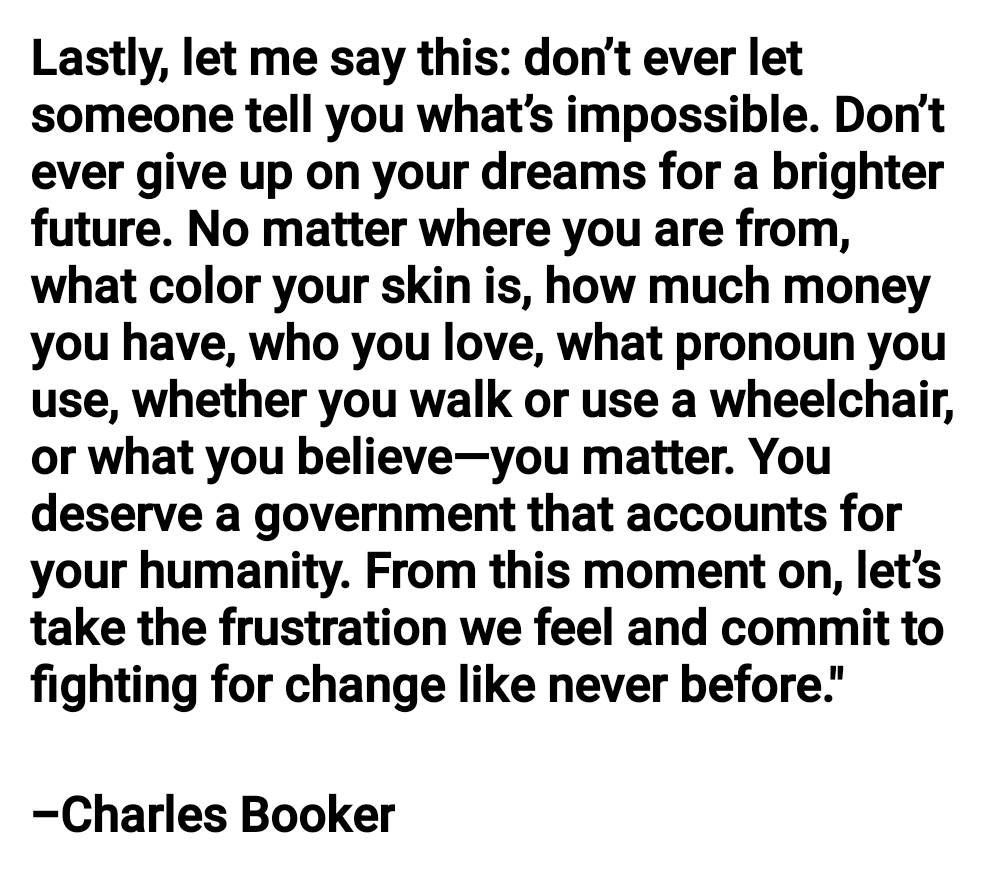 This is my favorite quote from @Booker4KY statement yesterday. A true example of integrity and what a man of character looks like.