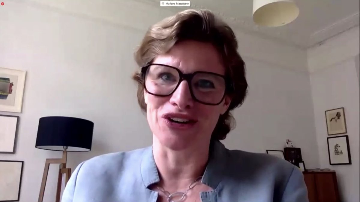 Rebirthing the Global Economy Women Economists Roundtable: @MazzucatoM There's really no lack of finance. It's what finance has been doing and where it's going. The role and the way we think about financing requires aligning. bit.ly/31uHgjE #Fin4Dev #RiseForAll